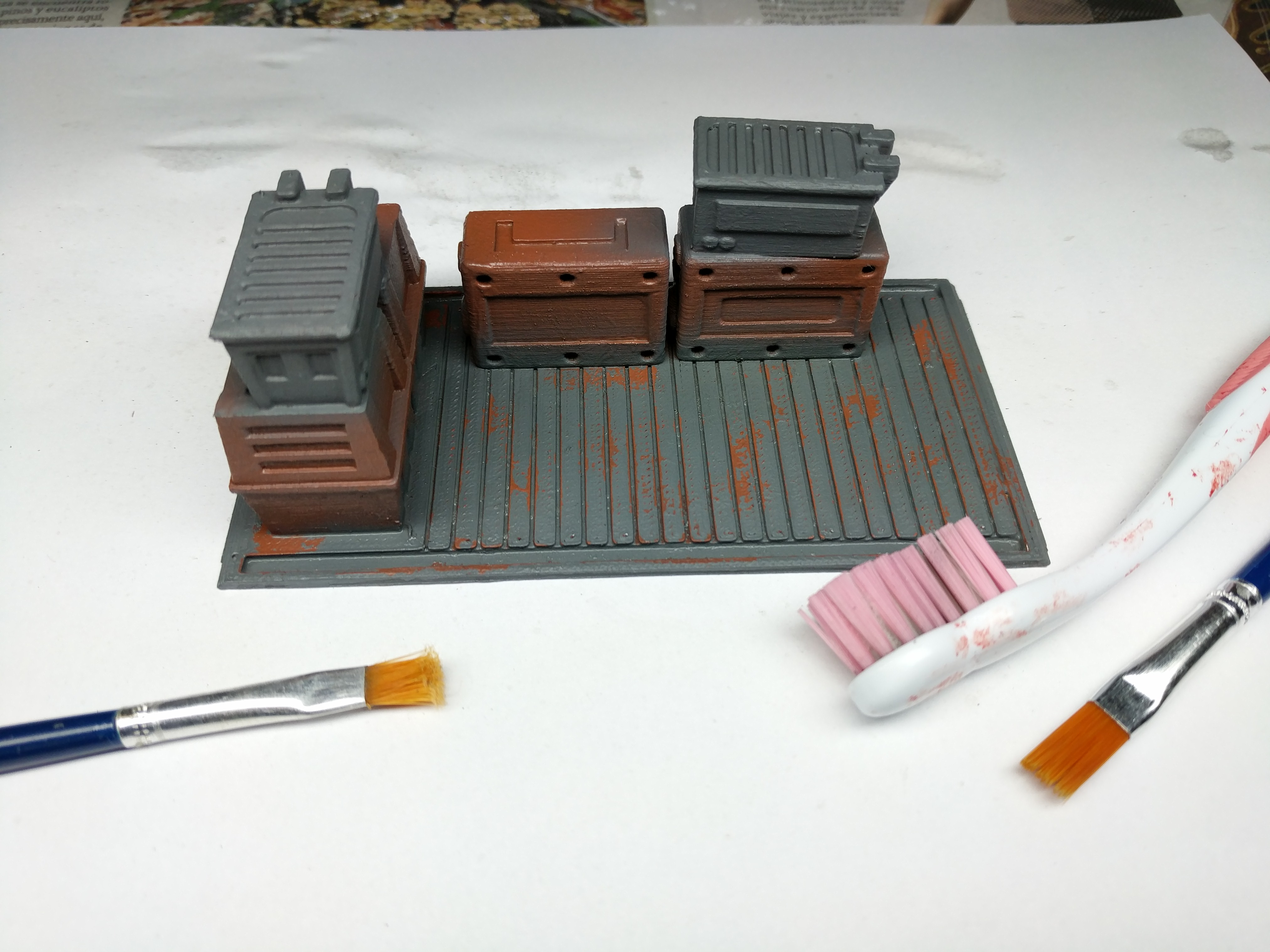 Cargo Pallet Or Resource Boxes For Star Wars Legion Imperial Terrain